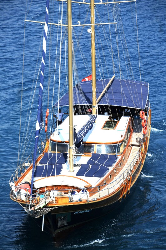Wooden Yacht Olympos Sailing Greece And Turkey
